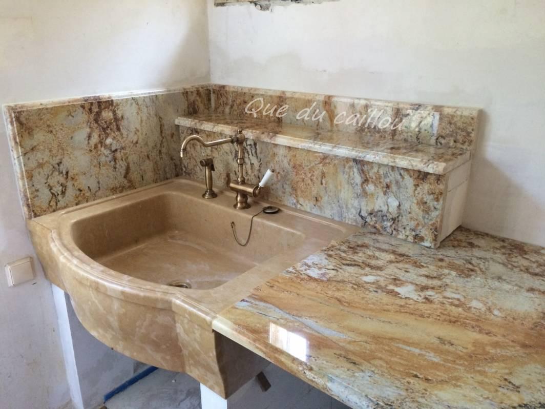 Conception Et Pose D Un Plan De Cuisine En Granit Arizonna Yellow
